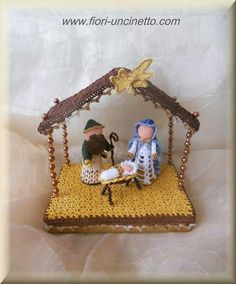 Ravelry: White Nativity by CreativityClaudia Crochet Christmas Decorations, Christmas Crochet Patterns, Holiday Crochet, Christmas Ornaments To Make, Christmas Nativity, Felt Christmas, Christmas Angels, Christmas Crafts, Knitting Projects