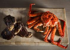 Luxurious Norwegian red king crabs (the divas of seafood) are the star of the show at Beast  #crab #seafood #eat #London #restaurant #steak #food  http://www.squaremeal.co.uk/restaurant/beast