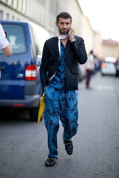 Menswear looks from Milan