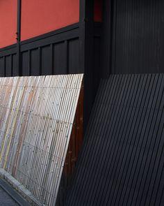 Exterior of Ichirikitei tea house in Kyoto, Japan