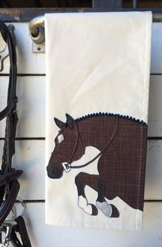 Hunter Tea Towel by The Artful Equine