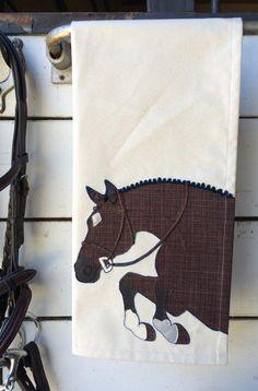 Hunter Tea Towel by The Artful Equine