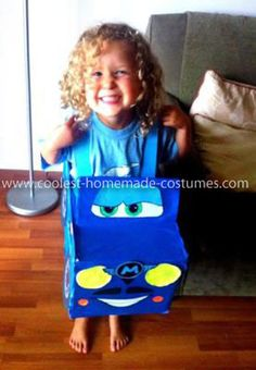Homemade Finn Mcmissile from Cars 2 Costume: I made this Homemade Finn Mcmissile from Cars 2 Costume for my little cousin who is mad about Cars and after seeing the second movie started asking for