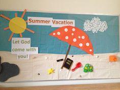 Pannelli decorativi aule che hanno come tema l'estate