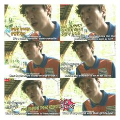 Crocodile expert Kwang Soo, the one who looks after the crocodiles~ X3