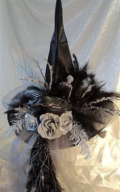 16 Witch Decorations For Halloween. Use our vast selection of witches and witch apparatus to add some enchanting details to your halloween display. Halloween Witch Hat, Halloween Home Decor, Diy Halloween Decorations, Scary Halloween, Fall Halloween, Witch Hats, Diy Witch Hat, Happy Halloween, Halloween Halloween