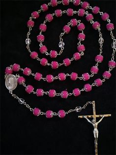 The rosary beads are made from real FLOWERS!    Full Rosary $80 :  1 rose is needed to make 1 rosary.  As with all of our products, the color of the flower will be the color of the rosary.