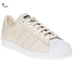 adidas Superstar W, Sneakers Basses Femme, Blanc (Ftwwht/Supcol/Ftwwht), 41 1/3 EU