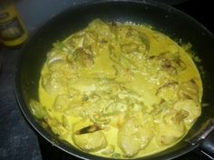 Poulet courgette curry