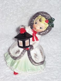 Vintage Christmas Napco Girl Shopper by BrilbunnySelections, $75.00