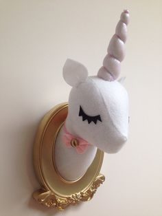 Unicorn Faux Taxidermy by Misfit Menagerie on Etsy. Sooo cute. Want for kitchen! $55