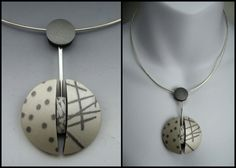 Modernist style polymer clay neckwire by Stonehouse Studio. www.stonehouse-studio.com