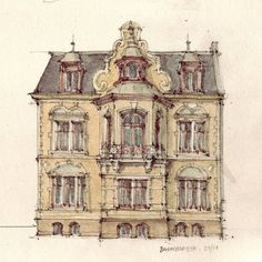 Victorian house sketch