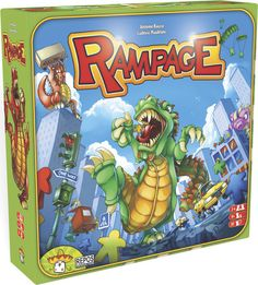 In Rampage, you arrive in Meeple City as a gigantic, famished, scaly-skinned monster! Your goal: Dig your claws and dirty paws into the asphalt, destroy buildings, and devour innocent meeples – in short: sow terror while having fun. The monster who has caused the most damage after the carnage fin...
