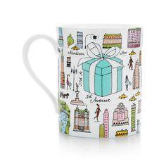 Tiffany & Co.® Fifth Avenue mug in bone china. | Tiffany & Co. | 9.5 oz. | $35.00