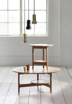 Simplicity as shown with the Ercol side table and coffee table. #interior #design