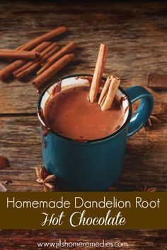 Do you love hot chocolate in the cold winter months? Here's a recipe that includes dandelion root to make it even healthier!