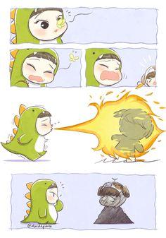 This is too cute! #chen #baekhyun