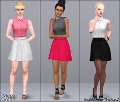 #Sims3 Anubis Under The Sun ♪: Mary Gold ~ Office dress
