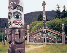 Tlingit totems Pacific Northwest native art