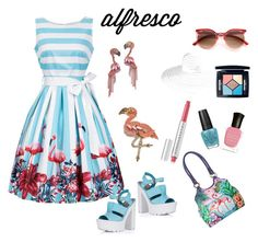 """""""Untitled #429"""" by siriusfunbysheila1954 ❤ liked on Polyvore featuring Anuschka, Elizabeth Cole, Chantecaille, Christian Dior, OPI and Deborah Lippmann"""