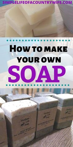 Making your own soap at home is frugal and fun! Learn how to make your own handmade soap. soap diy How to make your own handmade soap bars Handmade Soap Recipes, Soap Making Recipes, Homemade Soap Bars, Make Your Own, Make It Yourself, Honey Soap, How To Make Homemade, How To Make Soap, Vegan Soap