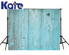 Kate Retro Blue Wood Background Vertical Stripes Photography Kids Background Customize Custom Made photo backdrops