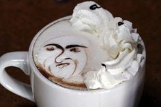 the whip cream is watching me!!