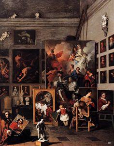El estudio de un pintor.  1746. Subleyras Pierre.  Francés desde 1699 hasta 1749.  óleo / tela.  http://hadrian6.tumblr.com
