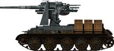 Krupp 8.8 cm 30 calibre quick-firing deck gun on a tank (fake)