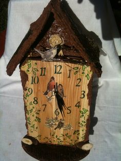 Stoni sat,kućica za ptičice ;) - slavske i dekupaz flase - Google+