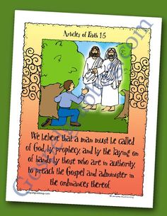 Missionary Work - Priesthood Authority - Ordinances: Scripture Poster, Articles of Faith 1:5, LDS Lesson Activity for: Primary, Youth, and Family Home Evening