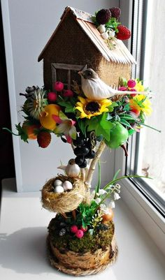 Jute Crafts, Diy Home Crafts, Diy Arts And Crafts, Crafts For Kids, Flower Crafts, Diy Flowers, Flower Pots, Easter Crafts, Christmas Crafts
