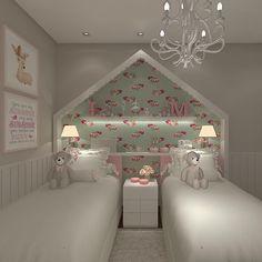 Apto Vale do Sereno 4 🌺👑🎀 {3D: @rafabueno_r } #kidsroom #babyroom #babydecor #decorbaby #quarto #quartos #quartosdecrianca