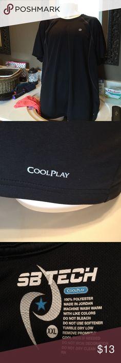 Men's T Shirt Men's cool play black T Shirt SB TECH Shirts Tees - Short Sleeve