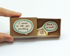 Thank you card Matchbox / Gift box / Message box I just by shop3xu