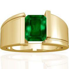 18K Yellow Gold Emerald Cut Emerald S... (bestseller)