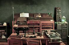 Letterpress studio of Shauna Alterio & Stephen Loidolt (Something's Hiding In Here), Philadelphia.