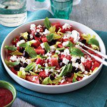 (2 pp) Watermelon feta and mint salad