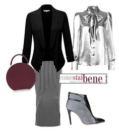 Out Fit 🕶 by carolinabeauperthuy on Polyvore featuring polyvore, fashion, style, Yves Saint Laurent, Christopher Kane, Francesca Mambrini, BUwood and clothing