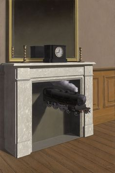 Time Transfixed, 1938, by René Magritte