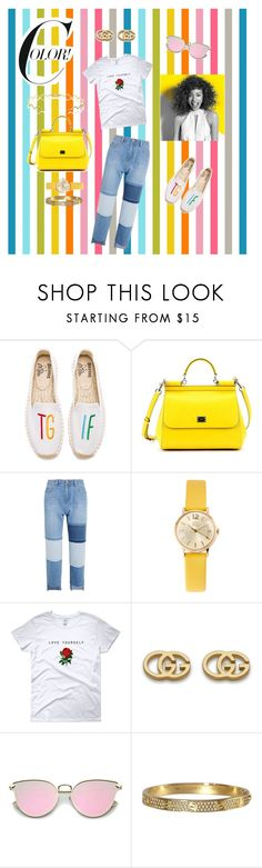 """""""Summer Vibes"""" by echolsitalie ❤ liked on Polyvore featuring Soludos, Dolce&Gabbana, Steve J & Yoni P, Orla Kiely, Gucci, Sabine Getty and Paul Mitchell"""
