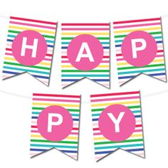 free printable happy birthday banner and alphabet free printables