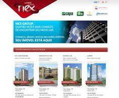 Site promocional Nex por todos os lados, para Nex Group