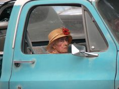 When I am an old lady I will put on my hat and makeup and be driven around in an aqua truck.