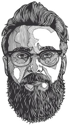 This is just an awesome illustration of this dudes face. The use of lines is so detailed and well done.