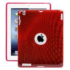 Electron Wave (Rød) iPad 3 / iPad 4 Cover