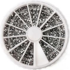 3D 2400pcs Diamond Rhinestones Glitter Nail Art Random Mixed 1.5mm Gems Tips Decoration Wheel >>> You can find more details by visiting the image link.