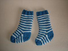marianna's lazy daisy days: 2-needle baby socks