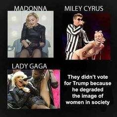 Worthless, ignorant women who should stick to music, ( well Miley has no talent like her dad) Hypocrisy at its finest!